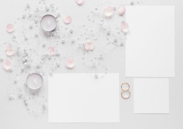 Свечи и свадебные приглашения Бесплатные Фотографии