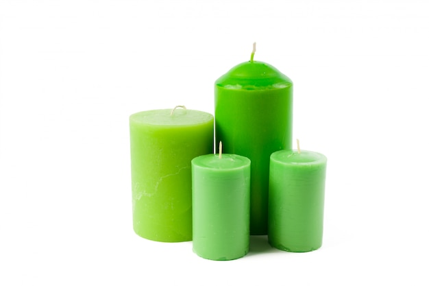 Candles isolated on white Premium Photo