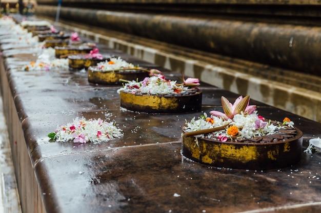 Cankamana (cloister walk) where the lord buddha walking on these platforms Premium Photo