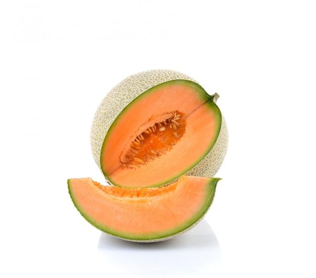 Cantaloupe melon isolated Premium Photo