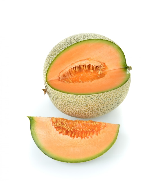Cantaloupe melon isolated Premium Photo