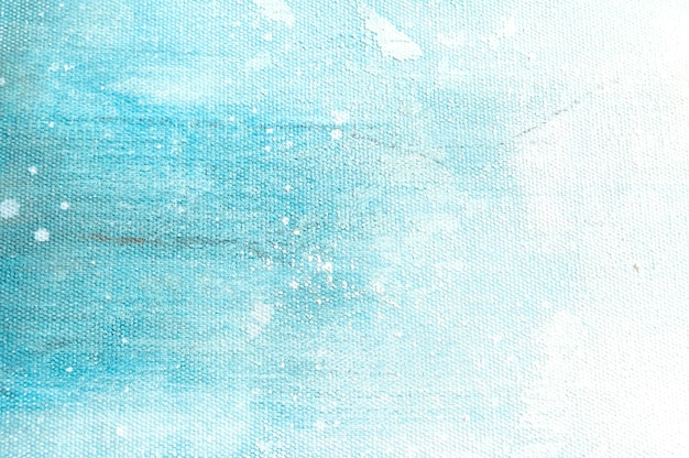 Canvas texture background with abstract blue colorful art painting. Premium Photo