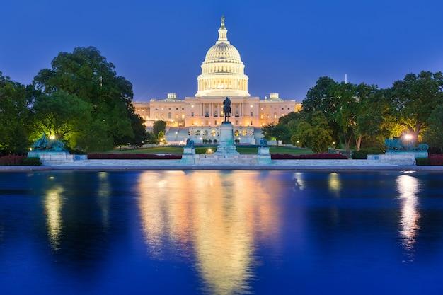Capitol building sunset washington dc congress Premium Photo