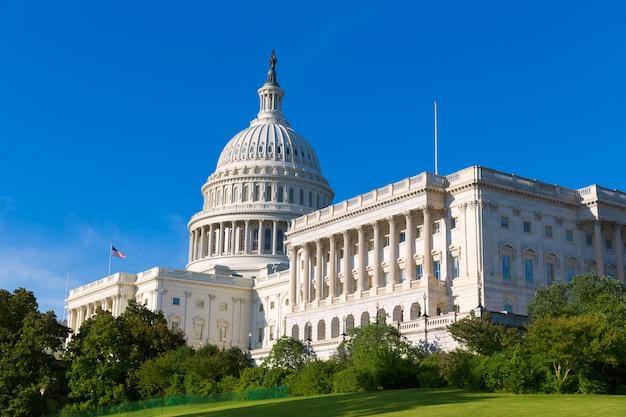 Capitol building washington dc sunlight day us Premium Photo