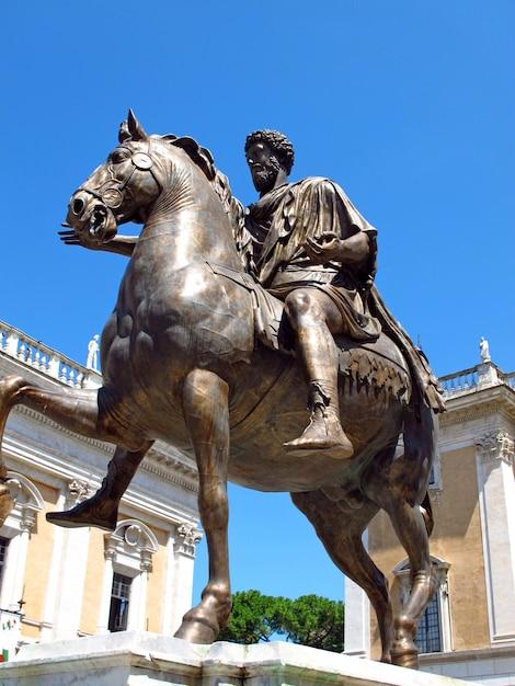 Capitoline museum in rome, italy Premium Photo