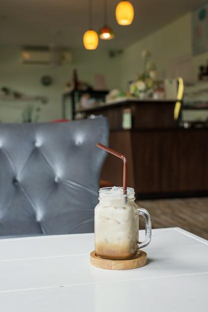 Cappuccino iced coffee Free Photo