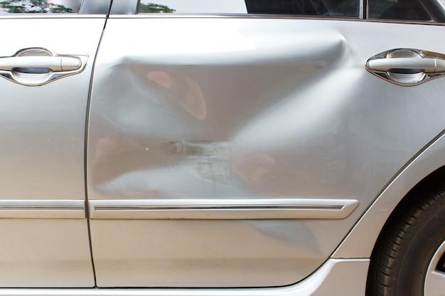 Car crash on back door  accident of transportation background  Photo