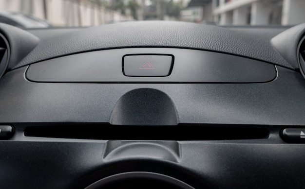 Car emergency button inside driver place. Premium Photo