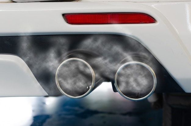 Car exhaust pipe Premium Photo