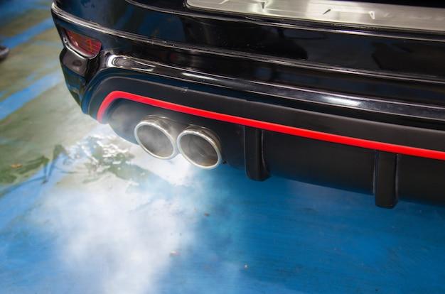 Car exhaust smoke Premium Photo