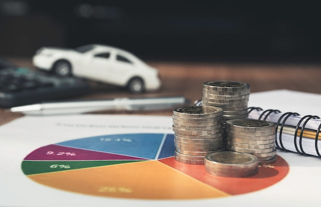 Car insurance and car service Premium Photo