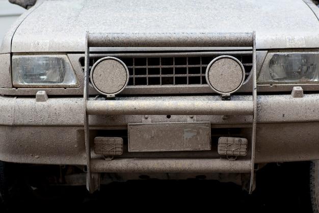 Car rally muddy Premium Photo
