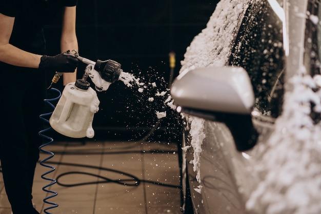 Car wash detailing station Free Photo