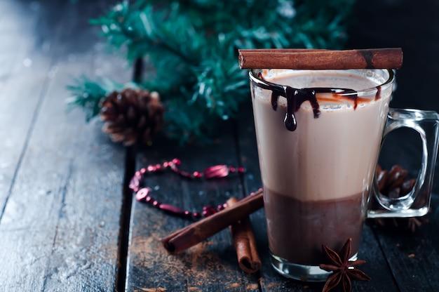 Caramel coffee latte Premium Photo