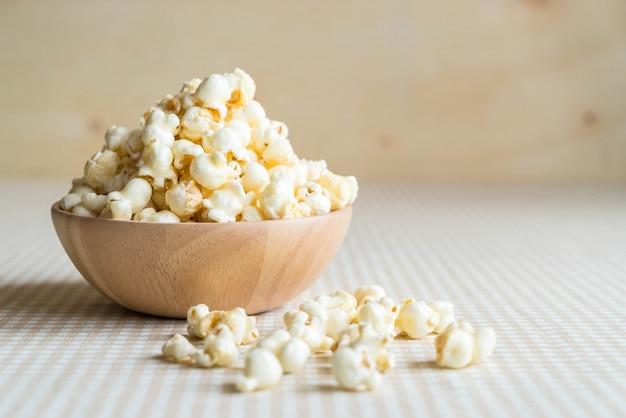Caramel popcorn on table Free Photo