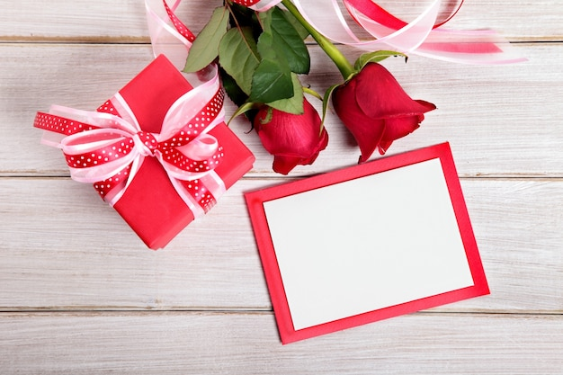 Card and valentine gift Free Photo