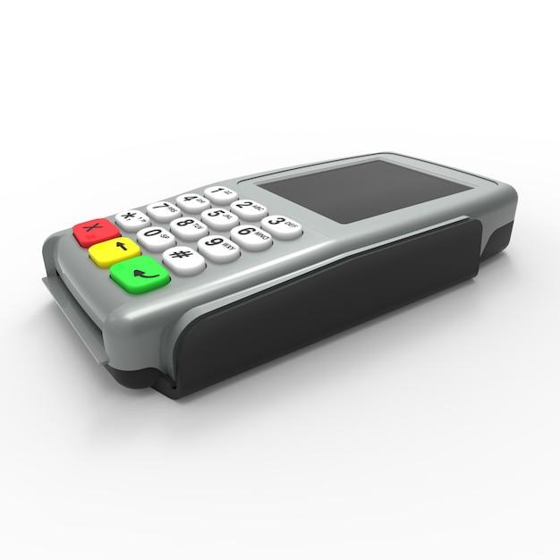 Card payment terminal. pos terminal isolated Premium Photo