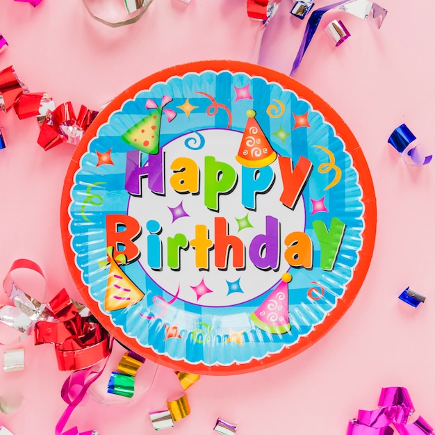 Card Plate Saying Happy Birthday Photo Free Download
