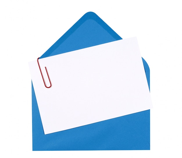 Card with blue envelope Free Photo