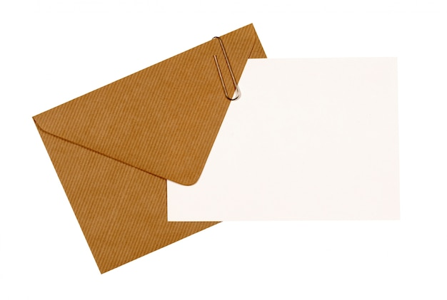 Card with brown envelope Free Photo