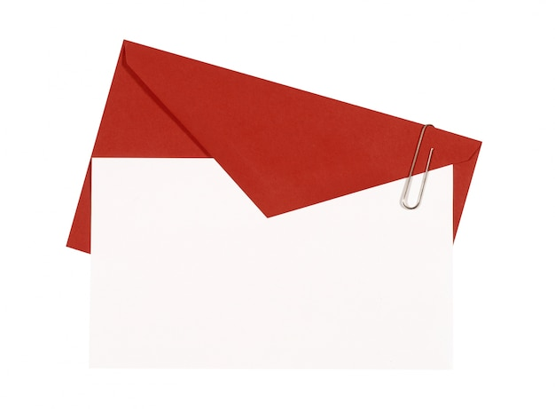 Card with red envelope Free Photo