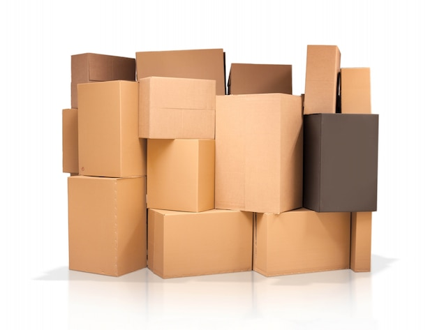 Cardboard boxes of different sizes Free Photo