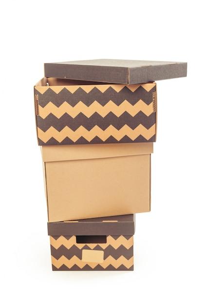 Cardboard boxes isolated Premium Photo