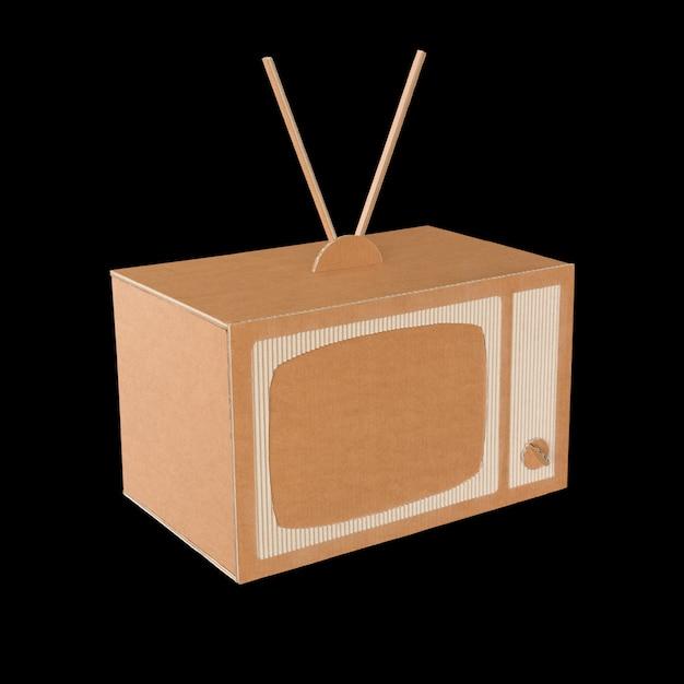Cardboard tv. Premium Photo