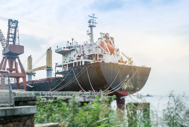 Cargo container ship Free Photo