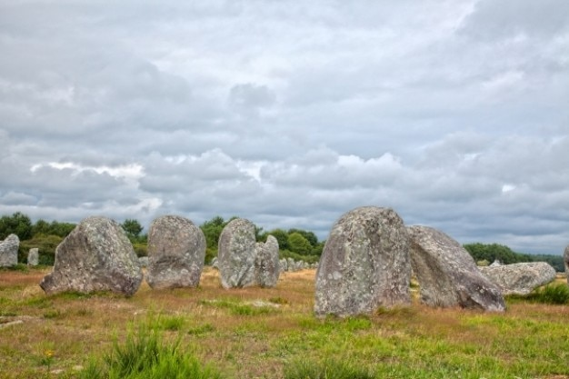 Carnac stones   hdr Free Photo