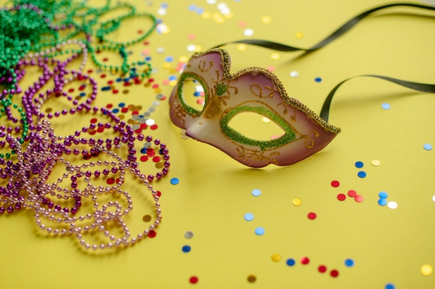 Carnival or mardi gras composition Premium Photo