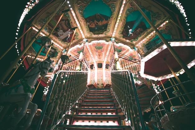 Carousel at night Free Photo