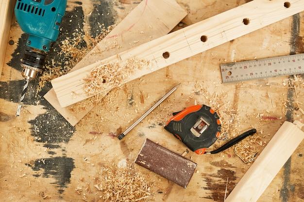 Carpentry background Premium Photo