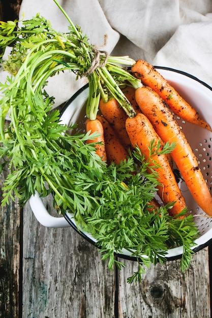 Carrot in colander Premium Photo