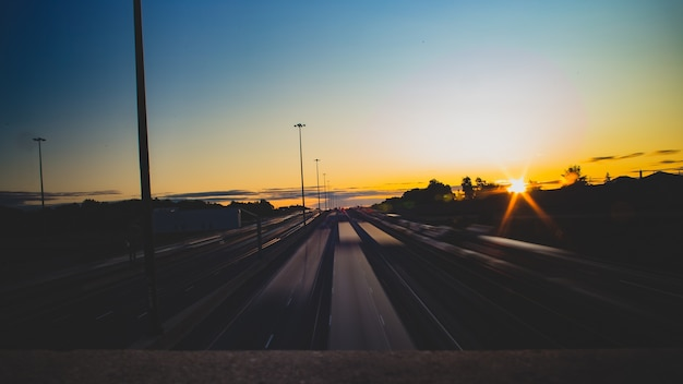 Auto pendolari al mattino presto a toronto Foto Gratuite