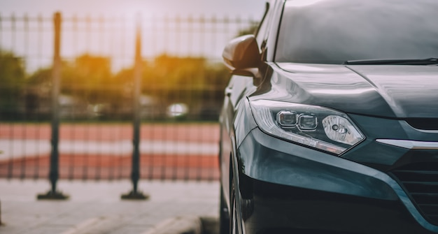 Cars parked on road Premium Photo