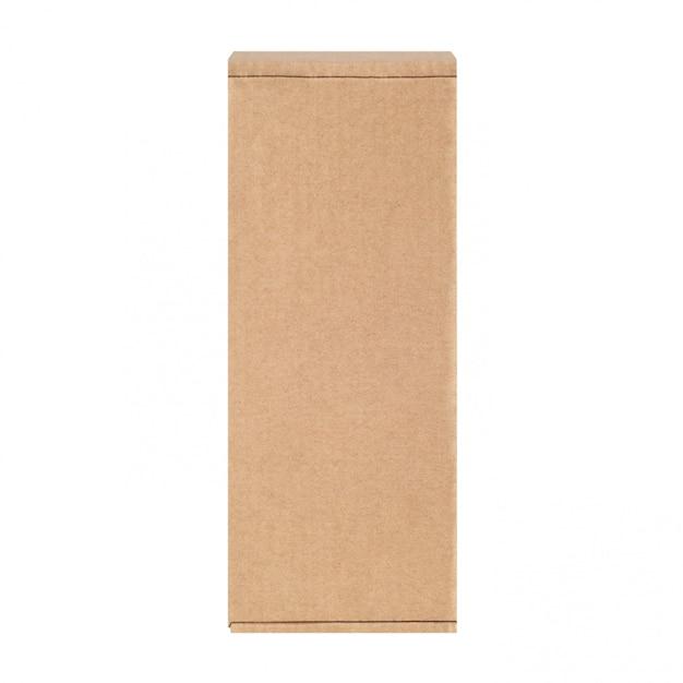 Carton box one. isolated on white. Premium Photo