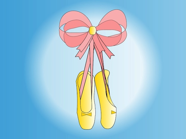 Cartoon of a dance shoes Free Photo