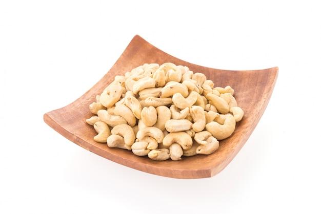 Cashews isolated on white background Free Photo