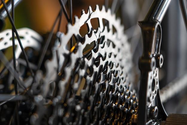 Cassette sprocket gear rear from road bike Premium Photo