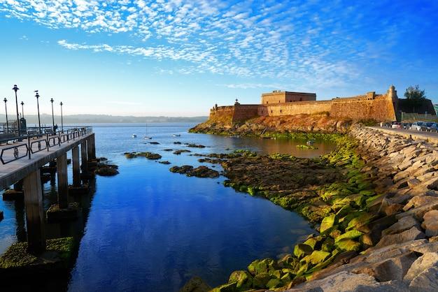 Castelo san anton in la coruna of galicia spain | Premium Photo