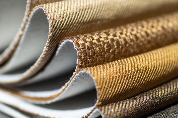 Каталог коричневой разноцветной ткани Premium Фотографии
