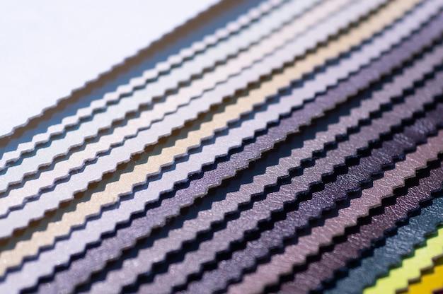 Каталог разноцветной искусственной кожи Premium Фотографии