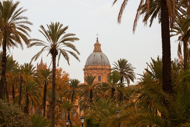 Cathedral church of palermo dedicated to the assumption of the virgin mary Premium Photo