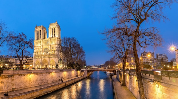 Cathedral notre dame paris Premium Photo