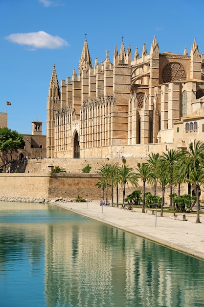 The cathedral of santa maria of palma de mallorca, spain Premium Photo