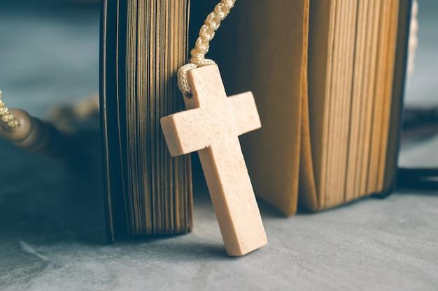 Catholic rosary beads Premium Photo