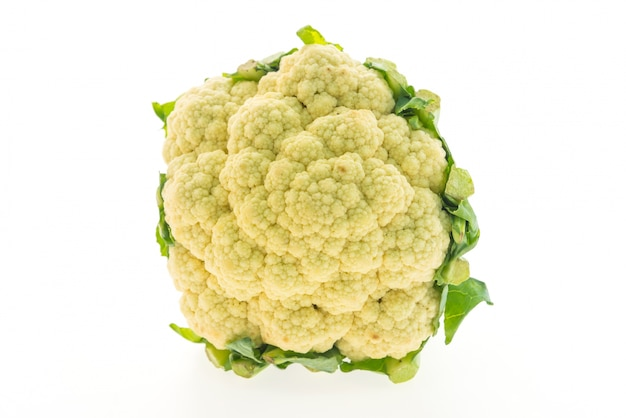 Cauliflower on white background Free Photo