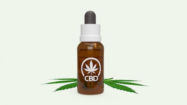 The cbd oil hemp products medical cannabis Premium Photo