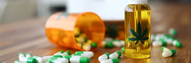 Cbd oil with other drugs Premium Photo